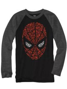 Nwt Boys Size XL 18/20  Marvel Spiderman Long Sleeve Shirt