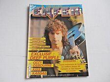 DEEP PURPLE rare ENFER metal magazine January 1987 KISS Stevie Ray Vaughan LIZZY