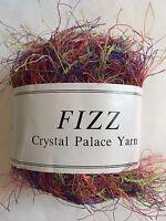 Purple Yellow Orange Brown 50g Crystal Palace Fizz Eyelash Yarn #7117 Floral
