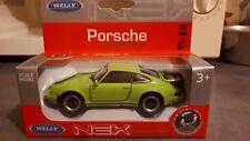 voiture miniature 1/43 porche 911 turbo verte welly nex die cast métal neuf