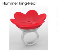 Hummingbird Handheld Ring FEEDER RED, Hummer Ring