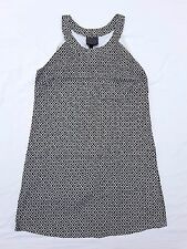 EX CON Alice In The Eve Sz 8 Dress Black White Pattern Mod 90's Retro Sleeveless