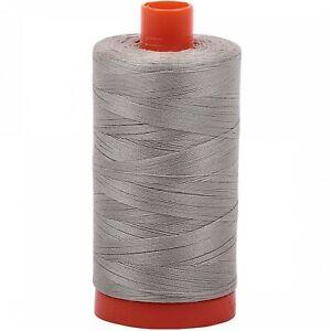 Aurifil Thread #5021 Light Grey Cotton Mako 50 wt 1422 yard spool