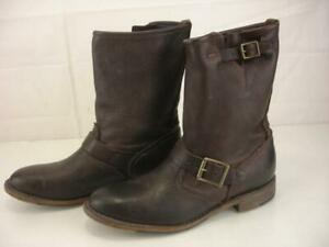 Vintage Shoe Company Womens sz 7.5 M Veronica Brown VS2200 Leather Boots Harness