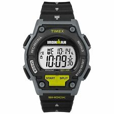 "Timex TW5M13800, Men's ""Ironman"" 30-Lap Resin Watch, Shock, Indiglo, 200 Meter"