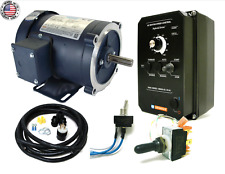KB Electronics KBAC-24D AC drive 9987 w/ Leeson 3600rpm 1hp ac motor MADE IN USA