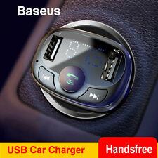 Baseus Dual USB Cargador de coche 3.4A carga rápida Manos Libres Universal Bluetooth 4.2
