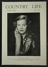 Caroline York Long Marston Manor Yorkshire 1954 1 Page Photo Article