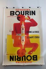 BOURIN QUINQUINA BY BELLENGER ORIGINAL 1936 VINTAGE POSTER FOR WHITE WINE LINEN
