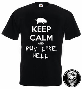 PINK FLOYD Keep Calm and Run Like Hell Men T-Shirt The Wall Parody Gift