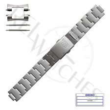 Genuine SEIKO 3304JZ 18mm Stainless Steel Band + Pins SNK Military Watch Strap