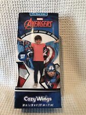 Marvel Captain America Twin Cozy Wings Throw Bed Blanket Red