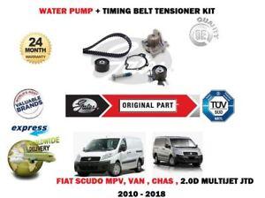 FOR FIAT SCUDO 2.0D JTD MULTIJET 2010-> TIMING CAM BELT TENSION KIT + WATER PUMP