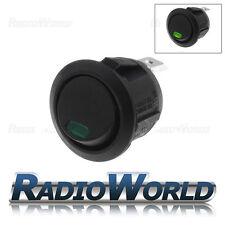 Green LED Round Momentary Rocker Switch Car Dash Light On/off 12v