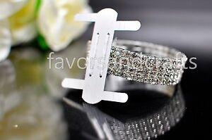 Rhinestone Corsage Wristlet Flower Stretch Band Wedding Prom Wrist Bling Favors