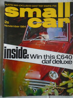 Small Car Nov 1964 NSU Wankel Spyder, Skoda 1000MB, Austin 1800
