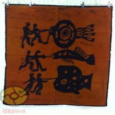 Chinese Folk Art Home Wall Hanging Batik Tapestry - abstract Hunting Fish