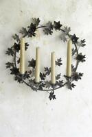 Jeanne d´Arc living Kerzenkranz Kranz Kerzenleuchter Wandkranz Blüten Ø41cm