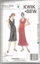 Kwik Sew Pattern 3032, Cowl, V Neck Tops and Skirt, Dance, Adult XS - XL, Uncut