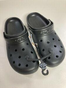 Crocs COAST CLOG Black 204151-001 Classic Sandals Men Size 10 Women Size 12 NWT