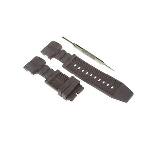 26mm Black Silicone Watch Strap Band Fits For Invicta Zeus Bolt 14071 W/ Tool