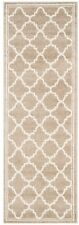 Runner Area Rug Flooring Border Geometric 2 x 15 ft. Indoor Outdoor Wheat/Beige