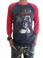Led Zeppelin Concert North American Tour 1971 Raglan Mens T-Shirt Gray M,L,XL