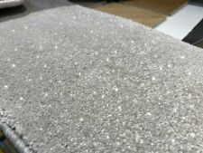 Quality Sparkle Carpet Light Grey Glitter Twinkle Effect 4m & 5m £15.99 M/2