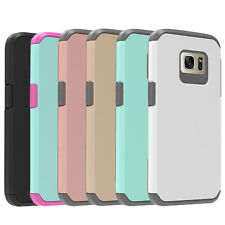 For Samsung Galaxy S7 / S7 Edge , Shockproof Case + Glass Screen Protector