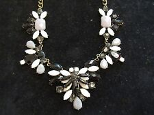 Statement Collar Necklace Rhinestone Crystal Jeweled Thick Floral Cocktail Party