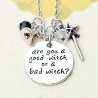 *UK* 925 SILVER PLT 'ARE YOU A GOOD WITCH OR A BAD WITCH?' WICKED WIZARD OF OZ
