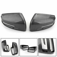 Carbon Fiber Rear View Side Mirror Cover Trim For Benz 2011-2018 Benz W212 W204