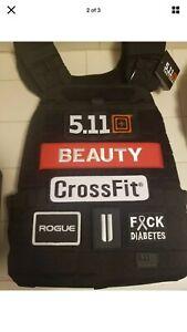 "1x Custom Name Patch 9""x2"" CrossFit Plate Weight Vest Hook And Loop 5.11 Murph !"
