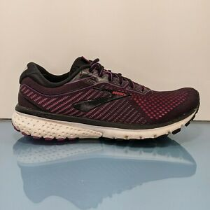 BROOKS Ghost 12 Womens Size 8.5 B Black Hollyhock Pink Running Shoes Sneakers