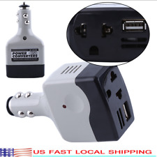 Auto Car Charger Adapter DC 12V/24V To AC Converter 220V Charger Power W/ USB.