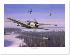 Winter Wulf by Jim Laurier - Fw-190s - Green Hearts - Aviation Art Prints