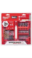 Milwaukee 45-Piece Impact Steel Hex Screw Driver Drill Bit Set Driving Kit Bits