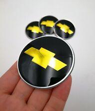 "4pcs Black Chevy Wheel Center Hub Cap Sticker Emblem 2.56"" 65mm for Chevrolet"