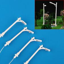 20 White 1/200 Z scale train layout Street Park Model lamppost lamp Single Head