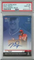 2019 Topps Now Mike Trout Blue Auto 41/49 - PSA 10