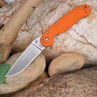 New Ontario RAT Model 1 G10 AUS-8 sharp Steel Camping Folding Knife Saber Blade