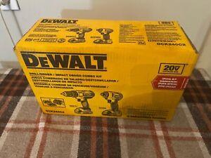 NEW DEWALT DCK240C2 20V MAX 2-Tool Combo Kit (1.3 Ah) Drill Driver Impact Driver