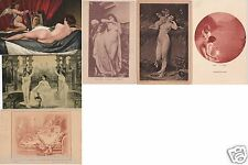 # NUDI NELL'ARTE 1908-09 - 5 CART. MONOCROME e 1 A COLORE