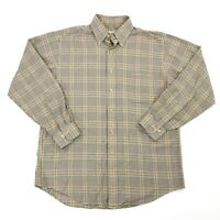 Viyella Men's Long Sleeve Button Front Check Plaid Gingham Shirt Size Medium