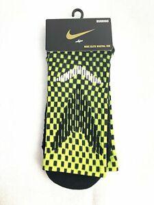Nike Elite Black/Neon Digital Ink Crew Running Unisex Socks SX9974-900