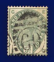 1884 SG193 5d Dull Green K23 EG London Good Used Cat £210 csmz
