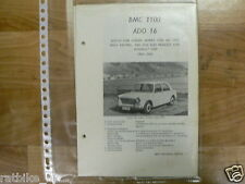 BMC3-BMC, ADO 16, AUSTIN 1100 GLIDER, MORRIS 1100, MG 1100,RILEY KESTREL,PLAS
