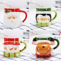 3D Christmas Mug Ceramic Coffee Mugs Elk Santa Claus Penguin Snowman Gifts Mug
