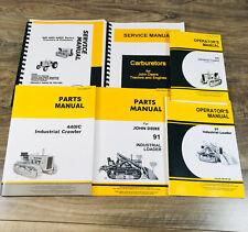 Service Parts Operators Manual Set For John Deere 440 Gas Crawler Tractor Loader