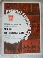 1970-71 Arsenal v West Bromwich Albion, 19 Sept with Voucher